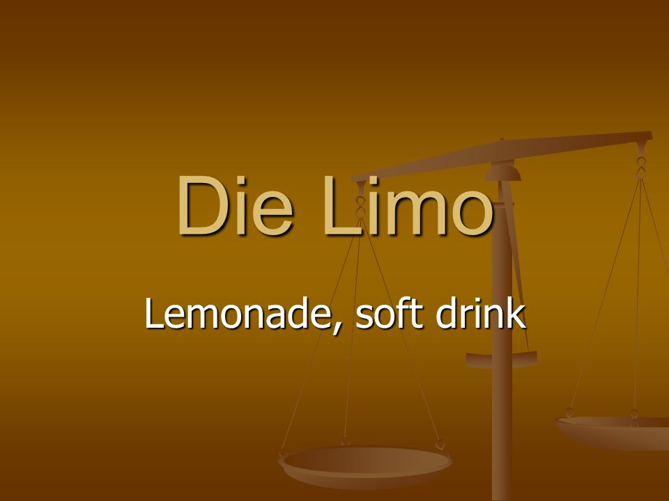 Die Limo Lemonade, soft drink