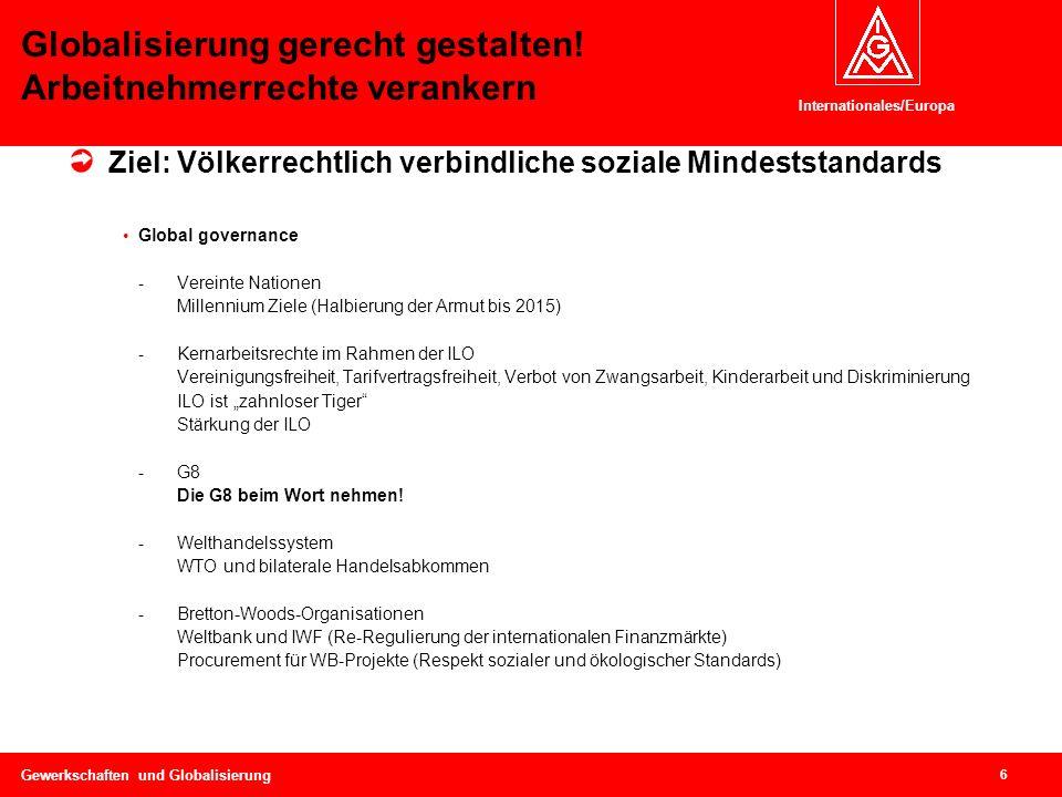 Internationales/Europa Horst Mund Gewerkschaften und Globalisierung ...