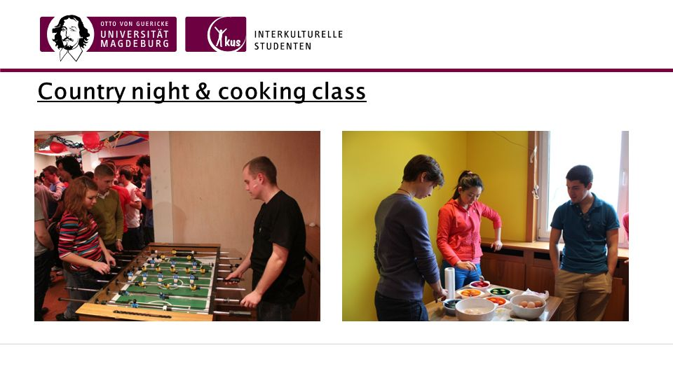 Country night & cooking class