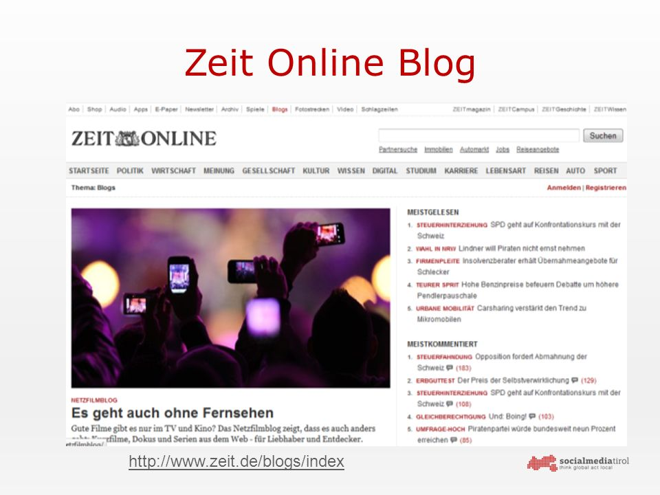Zeit Online Blog http://www.zeit.de/blogs/index
