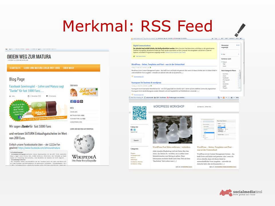 Merkmal: RSS Feed