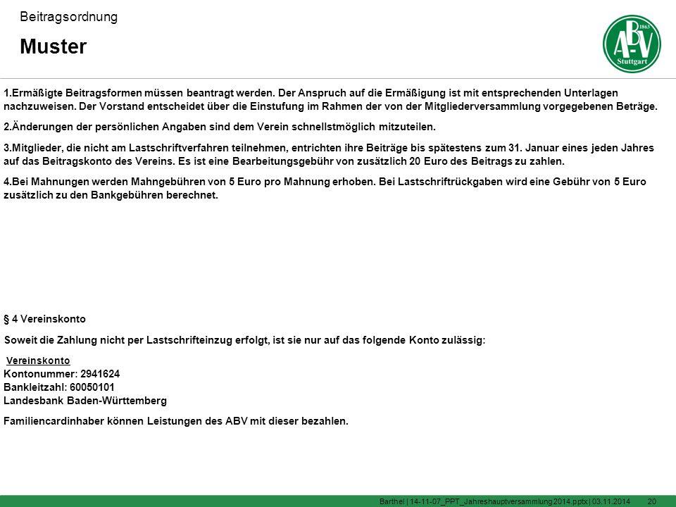 Jahreshauptversammlung 2014 Vereinsheim Degerloch 1900 Uhr