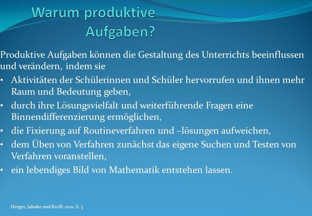 Innermathematische Aufgaben Dirk Hadasik. Produktive Aufgaben sind ...