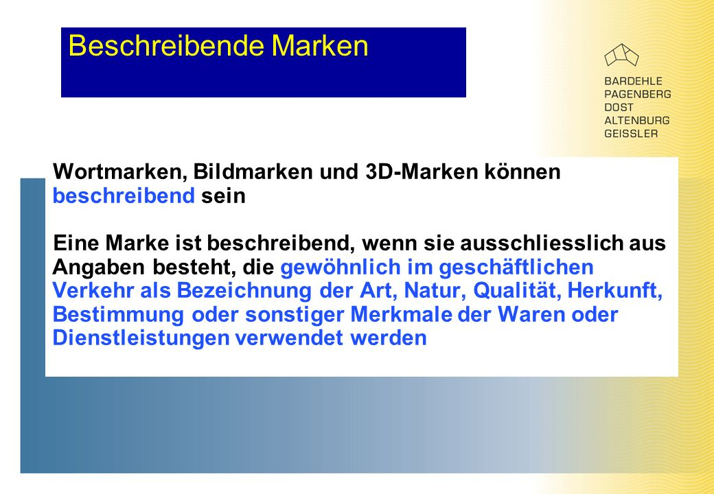 Europäisches Markenrecht UNIVERSITÄT SZEGED JURISTISCHE FAKULTÄT Dr ...