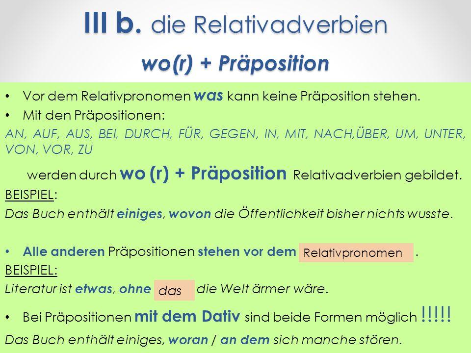 9 iii - Relativpronomen Beispiele