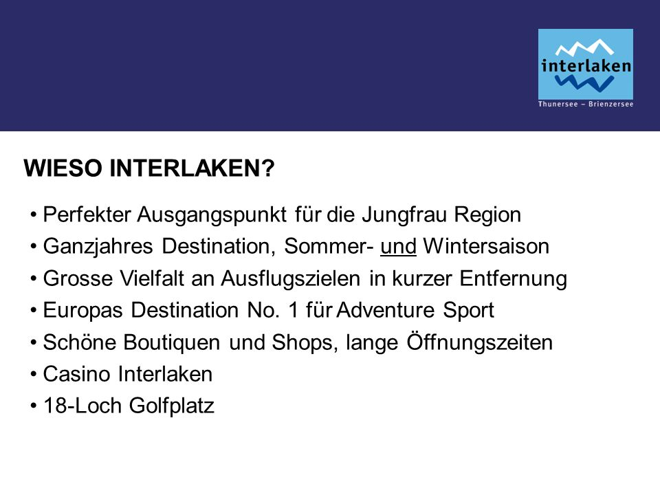 WIESO INTERLAKEN.