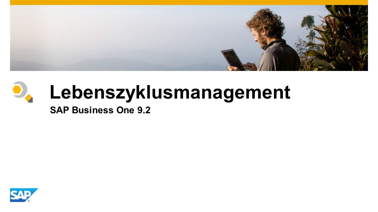 Lebenszyklusmanagement SAP Business One 9.2