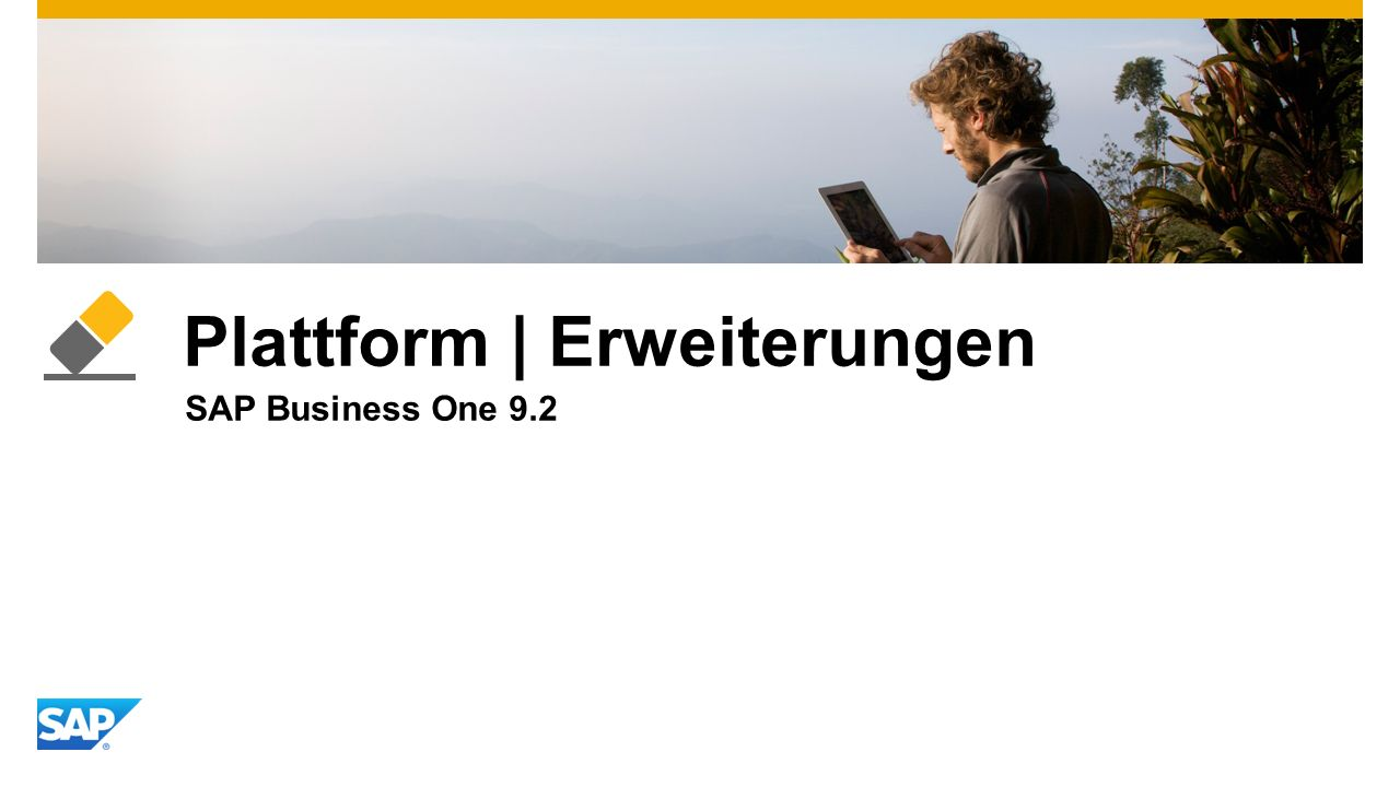 Plattform | Erweiterungen SAP Business One 9.2