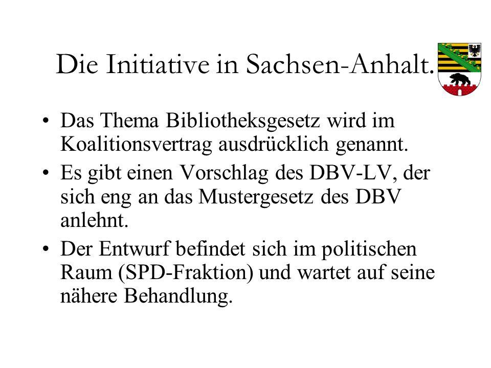 Bibliotheksgesetze in Sachsen, Sachsen-Anhalt und Thüringen. - ppt ...