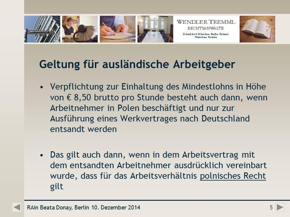 Erbringung Von Dienstleistungen In Deutschland Nach Einführung Des
