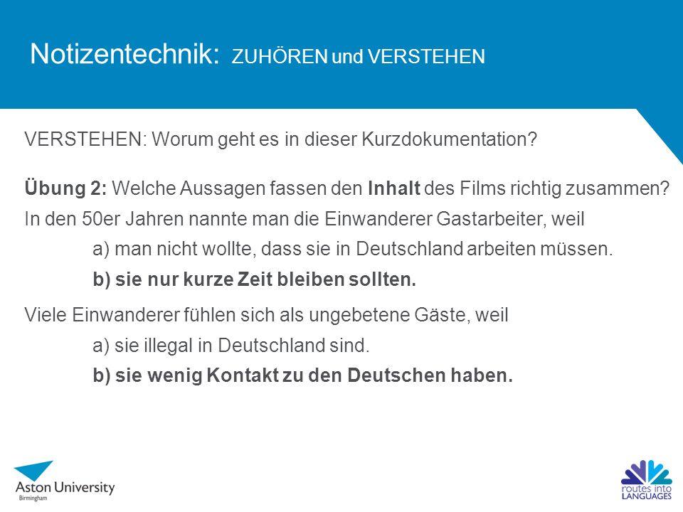 Notizentechnik: zuhören + verstehen + mitschreiben developed by ...