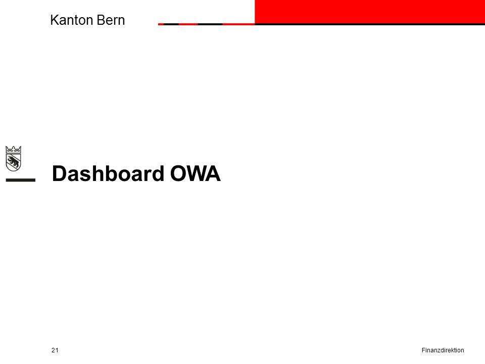Kanton Bern Dashboard OWA Finanzdirektion21
