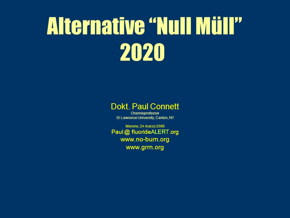 Alternative Null Müll 2020 Dokt.