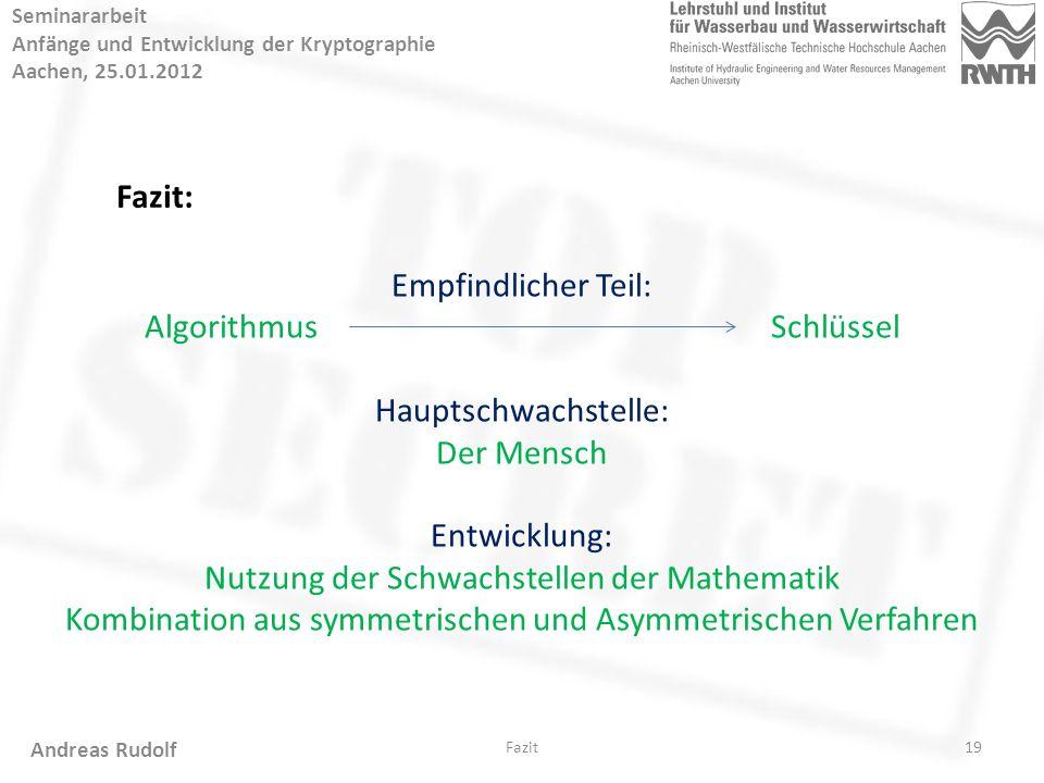 Anfänge Und Entwicklung Der Kryptographie Seminararbeit Von Andreas