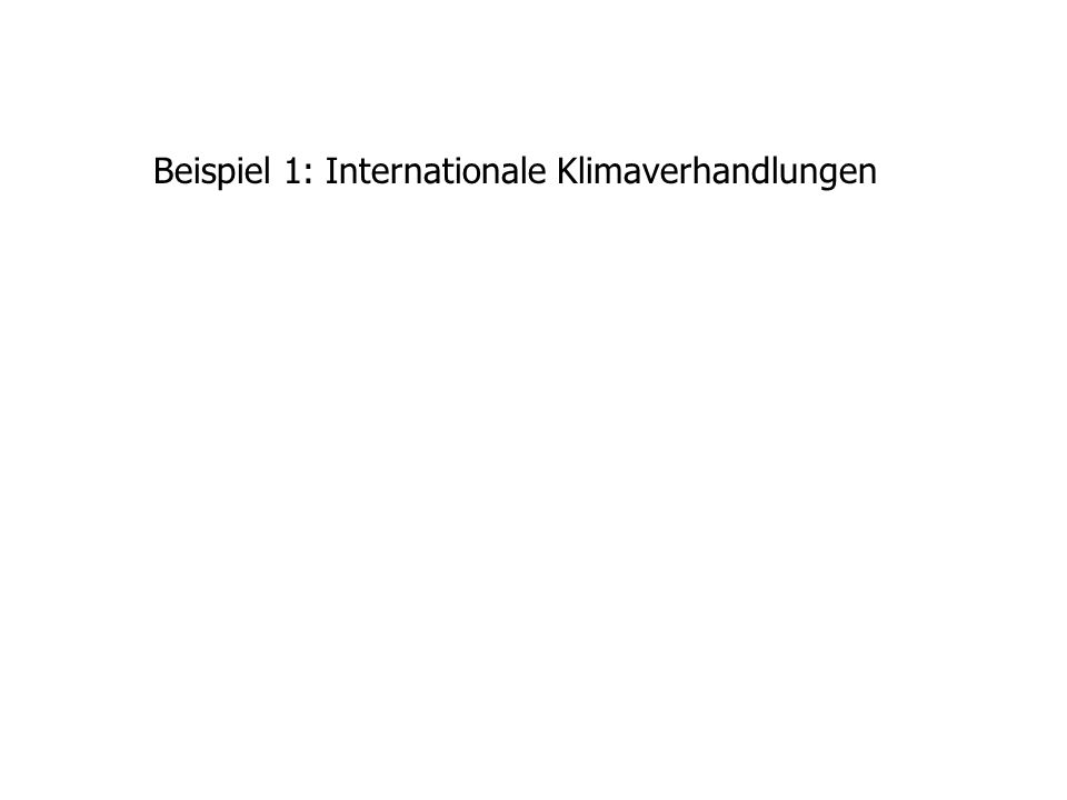 Beispiel 1: Internationale Klimaverhandlungen