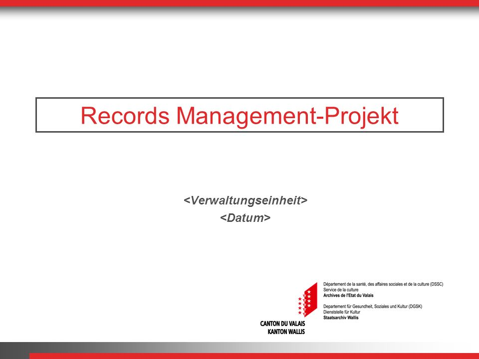 Records Management-Projekt