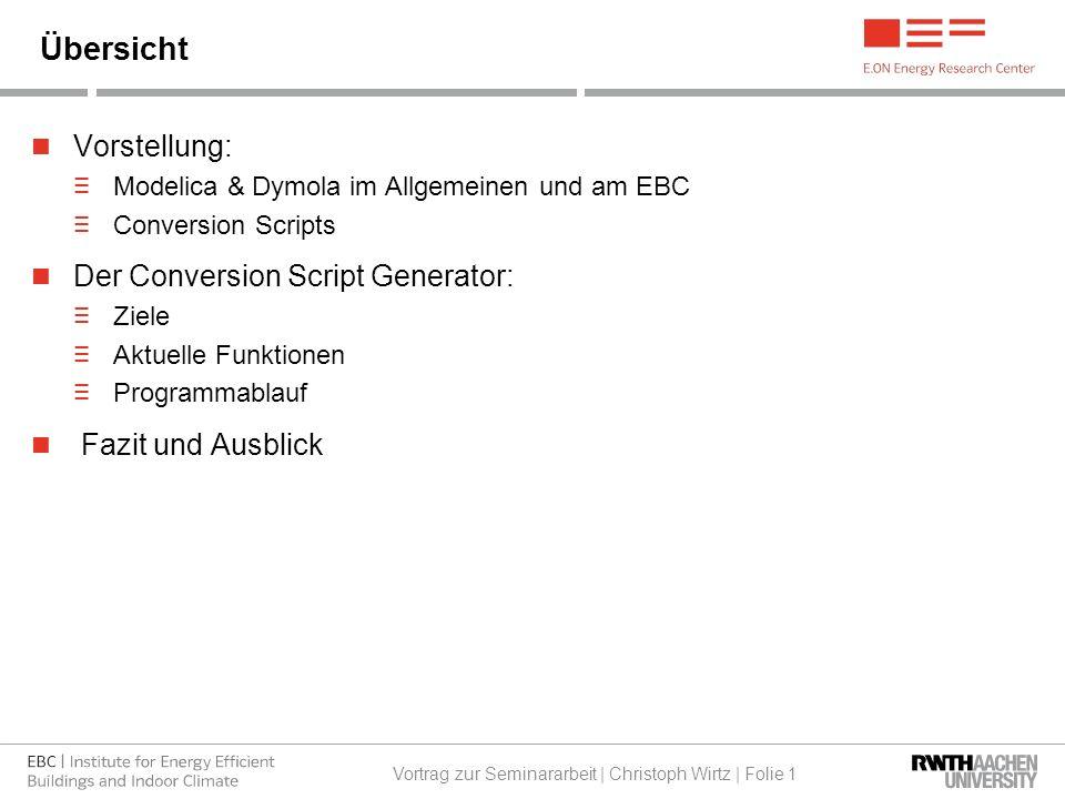 Christoph Wirtz Seminarvortrag Ebc Lehrstuhl Für Gebäude Und