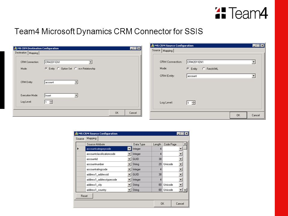 Team4 Microsoft Dynamics CRM Connector for SSIS