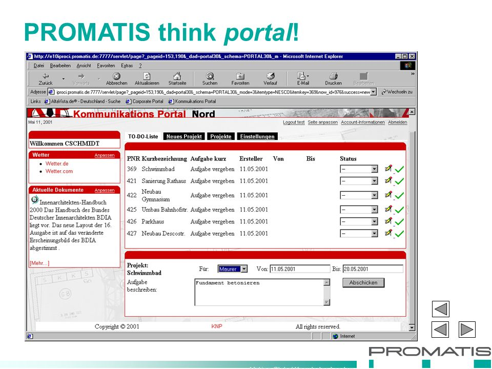 Making Global Knowledge Leaders PROMATIS think portal!