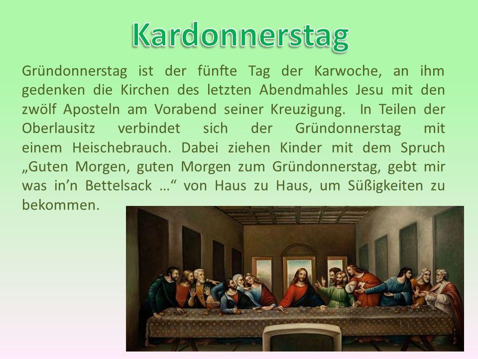Osterbräuche In Deutschland Der Karfdonnerstag Der