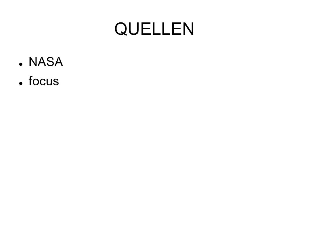 QUELLEN NASA focus