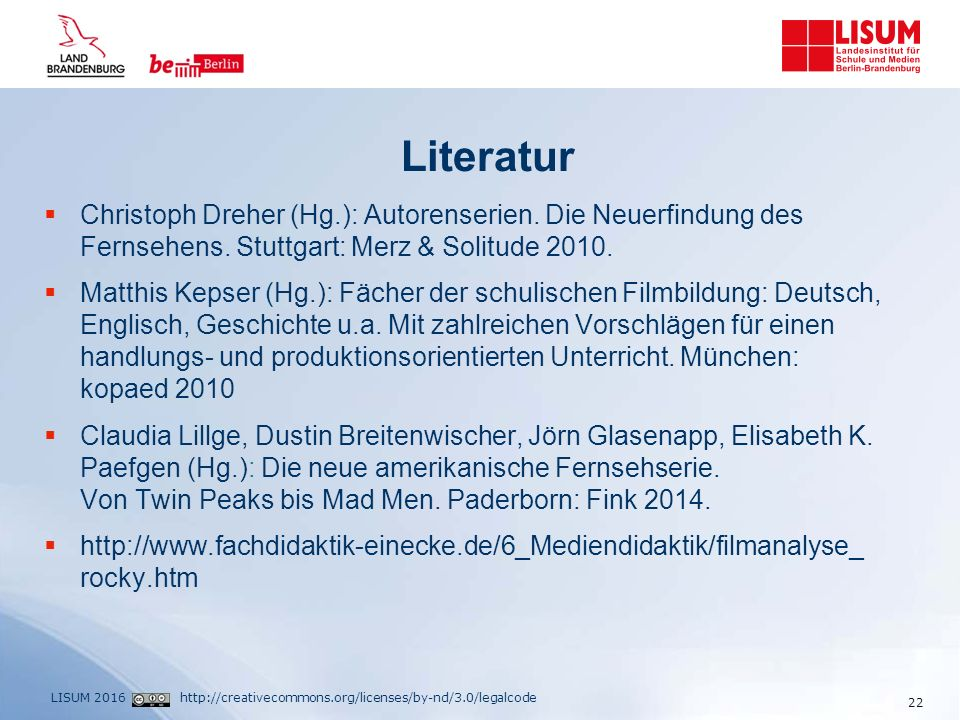 http://creativecommons.org/licenses/by-nd/3.0/legalcodeLISUM 2016 Literatur  Christoph Dreher (Hg.): Autorenserien.