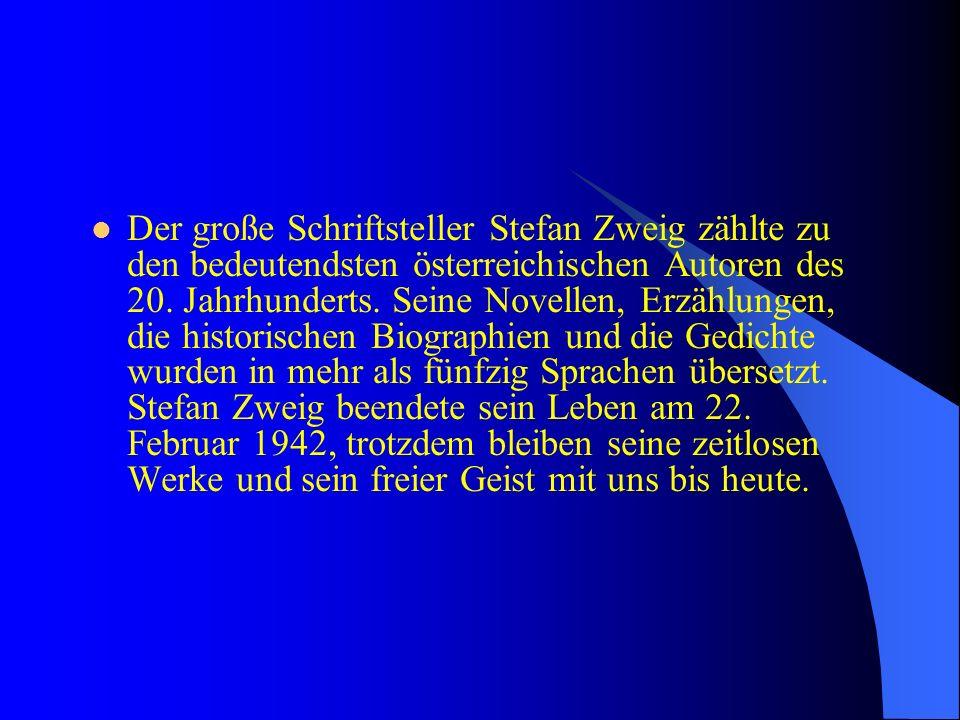 Stefan Zweig Stefan Zweig Ist Der Bekannte österreichische