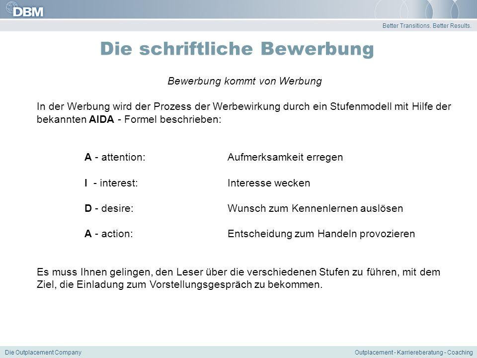 6 better transitions - Aida Bewerbung