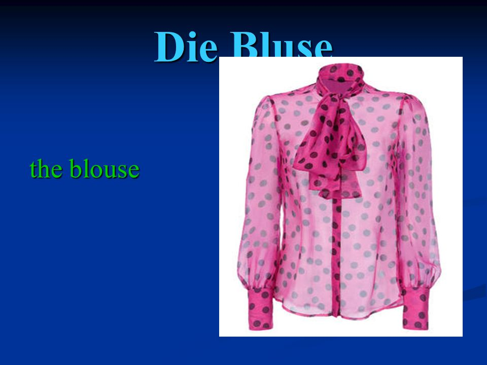 Die Bluse the blouse