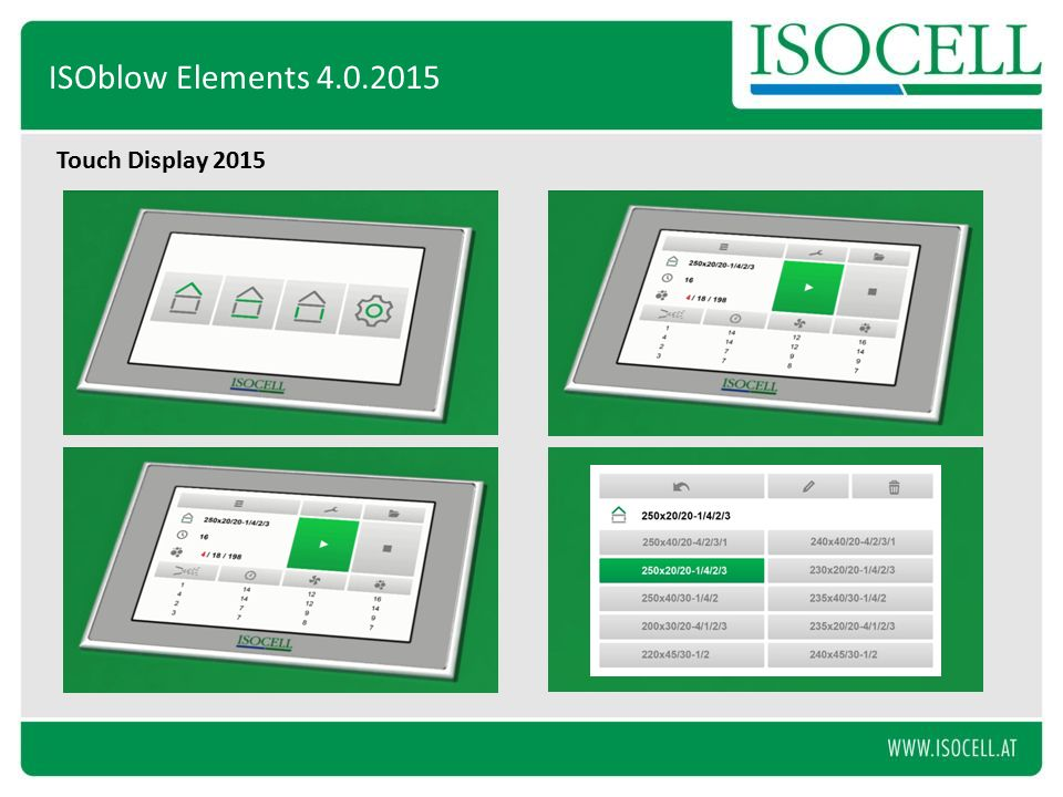 Touch Display 2015 ISOblow Elements 4.0.2015