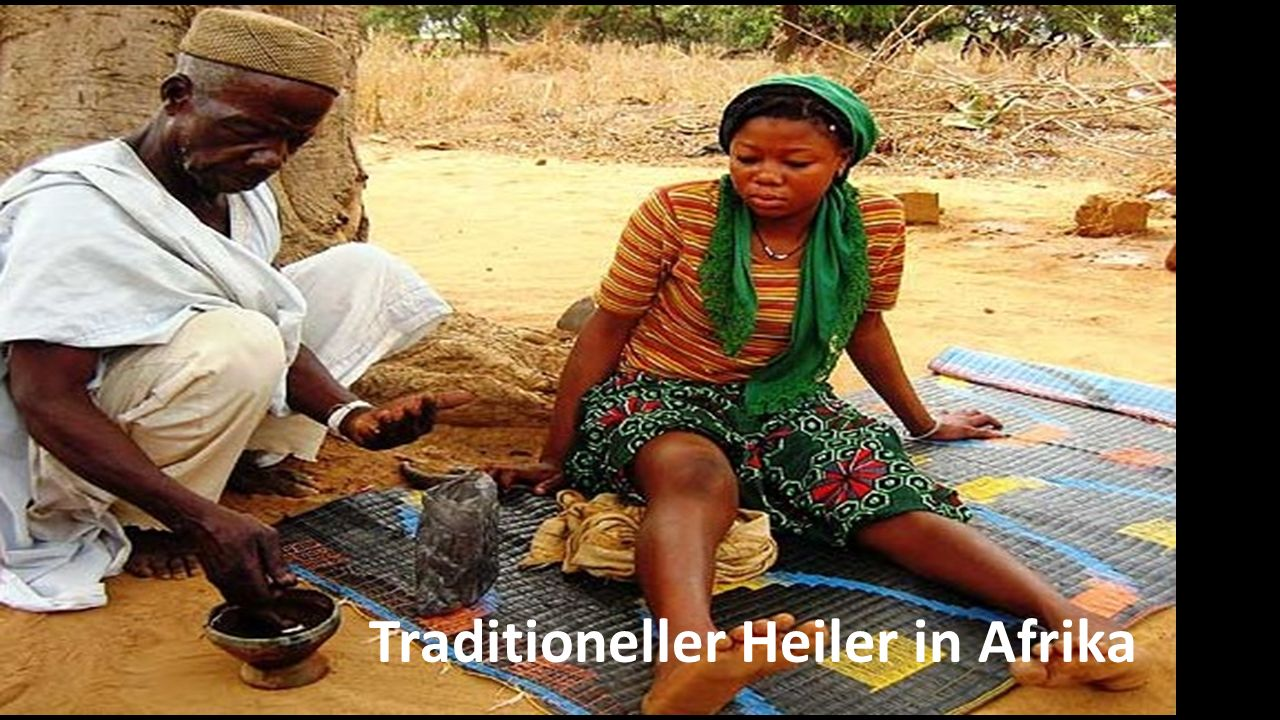 Traditioneller Heiler in Afrika