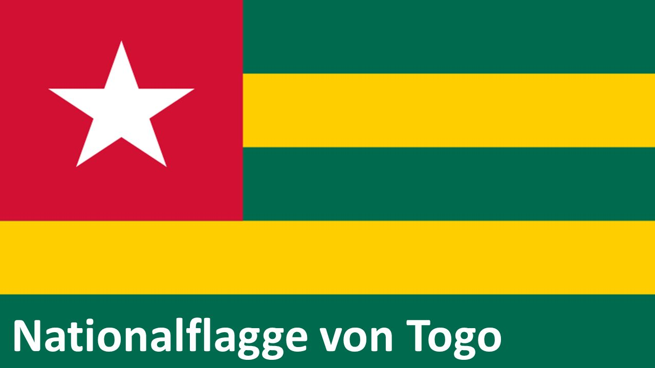 Nationalflagge von Togo