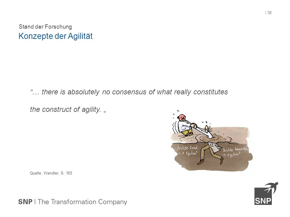 … there is absolutely no consensus of what really constitutes the construct of agility.