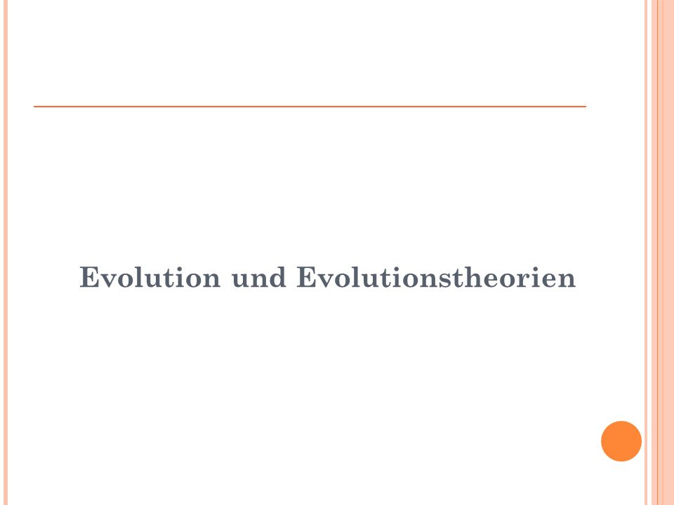 Evolution und Evolutionstheorien