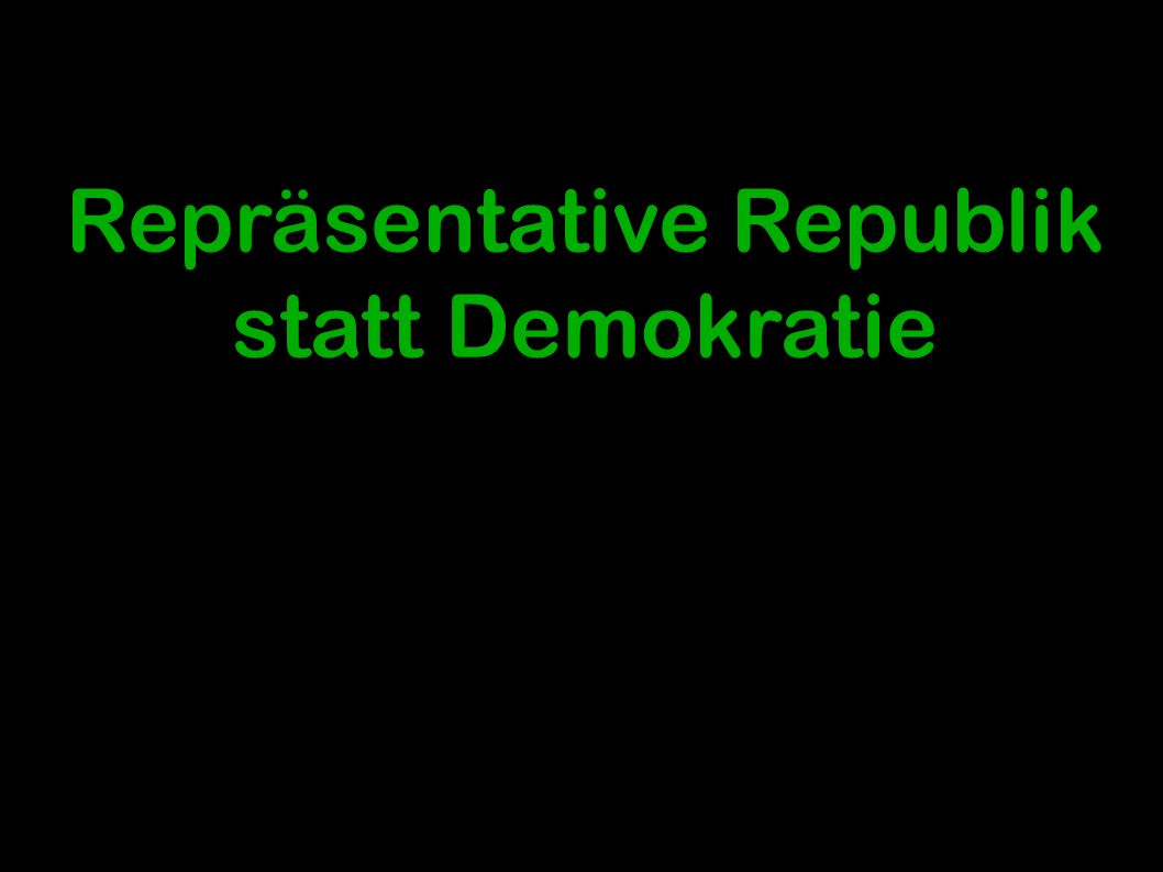 "1 Repräsentative Republik statt Demokratie Die ""Federalist Papers Alexander Hamilton/ James Madison/ John Jay Eine Präsentation von Christoph Sebald Seminar: Repräsentative Demokratietheorie Seminarleitung: Prof."