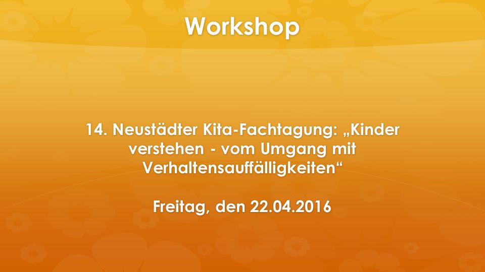 Workshop 14.