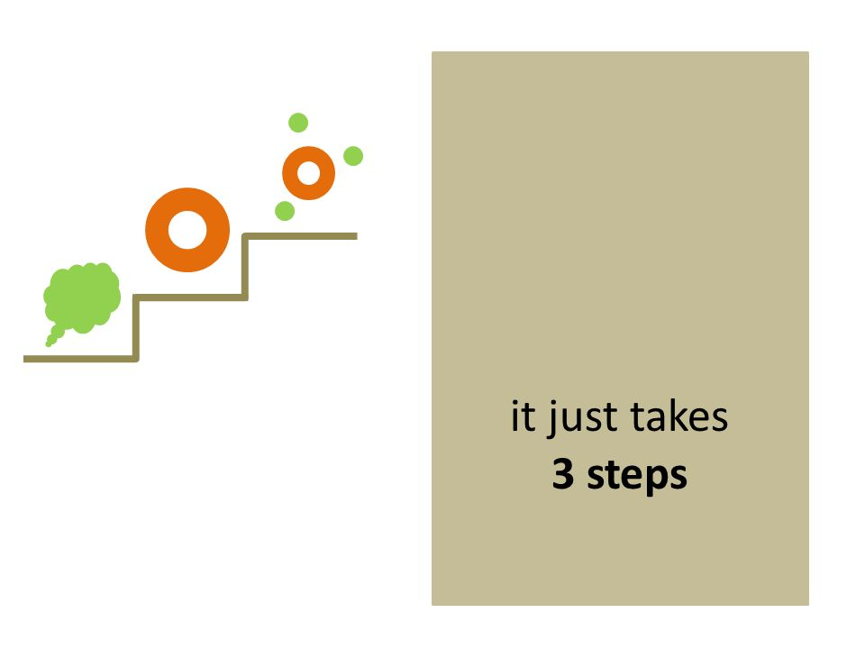 it just takes 3 steps