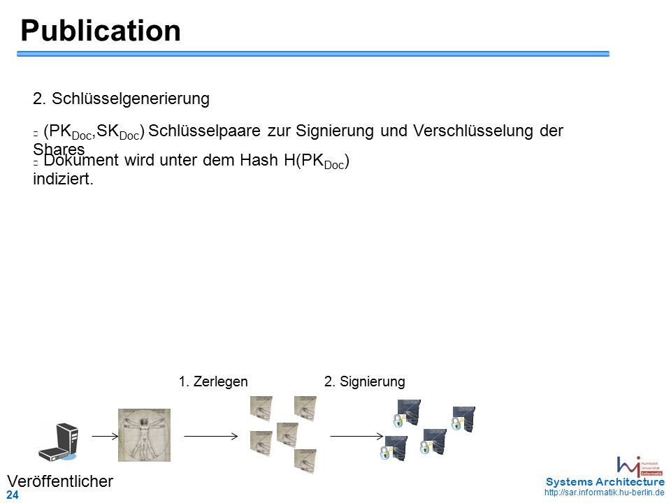 24 May 2006 - 24 Systems Architecture http://sar.informatik.hu-berlin.de Publication 2.