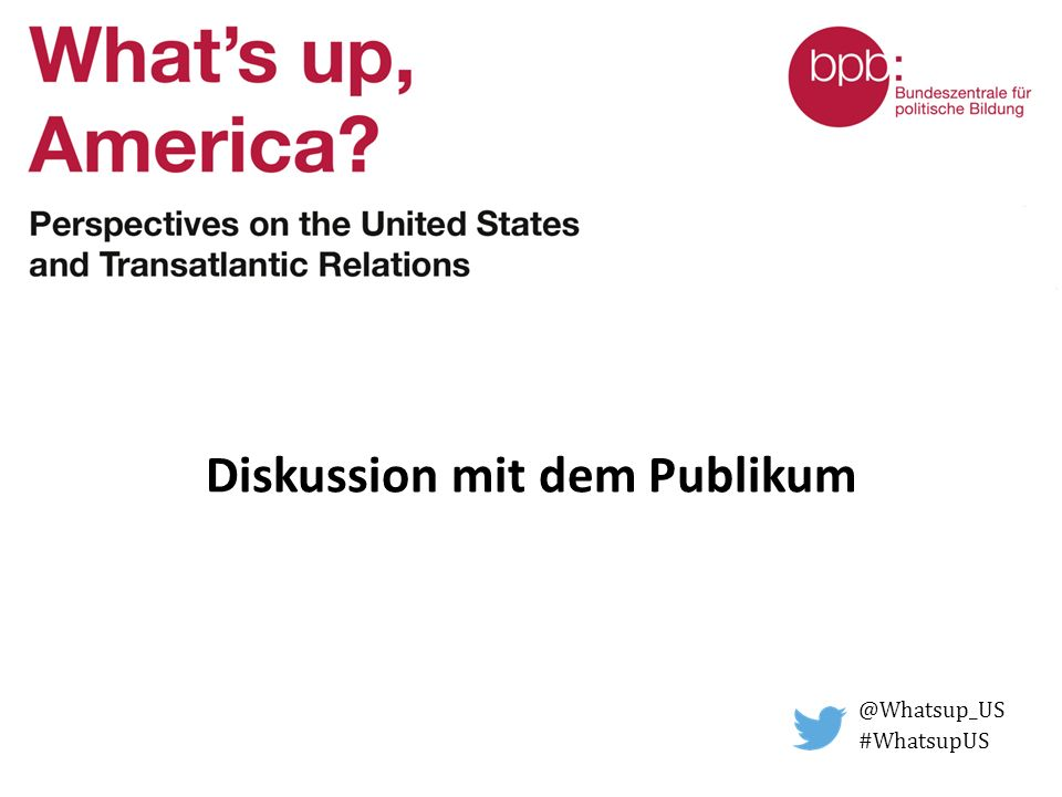 Diskussion mit dem Publikum @Whatsup_US #WhatsupUS