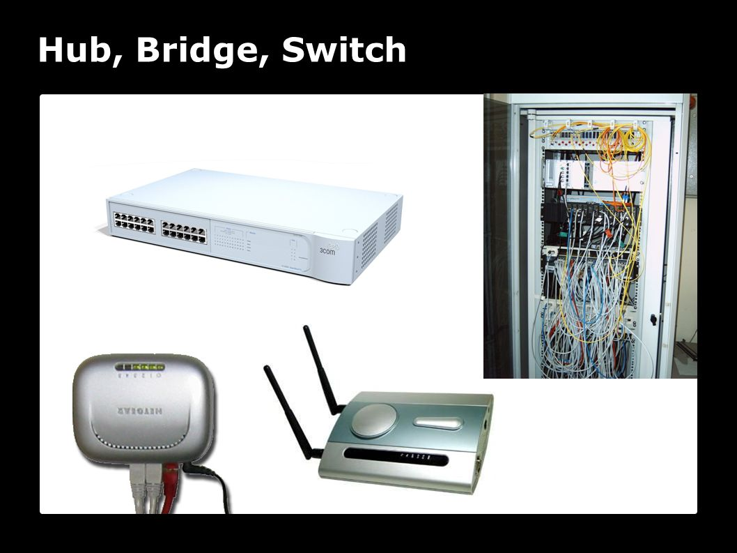 Hub, Bridge, Switch