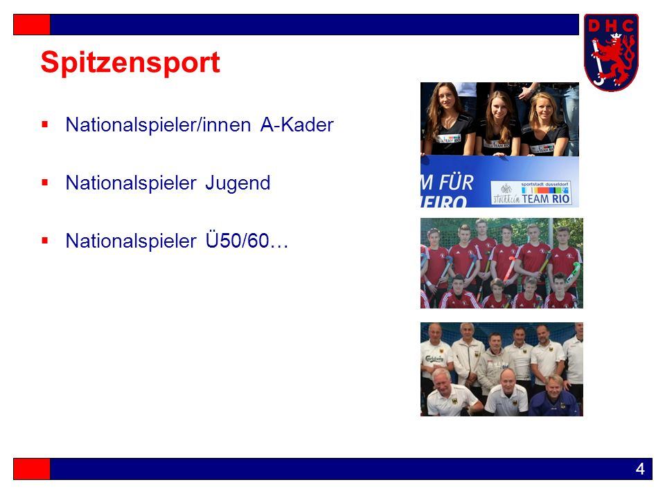 4 Spitzensport  Nationalspieler/innen A-Kader  Nationalspieler Jugend  Nationalspieler Ü50/60…