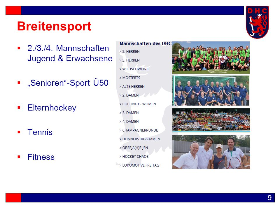 9 Breitensport  2./3./4.