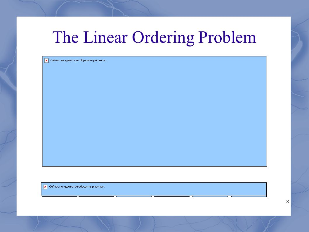 8 The Linear Ordering Problem