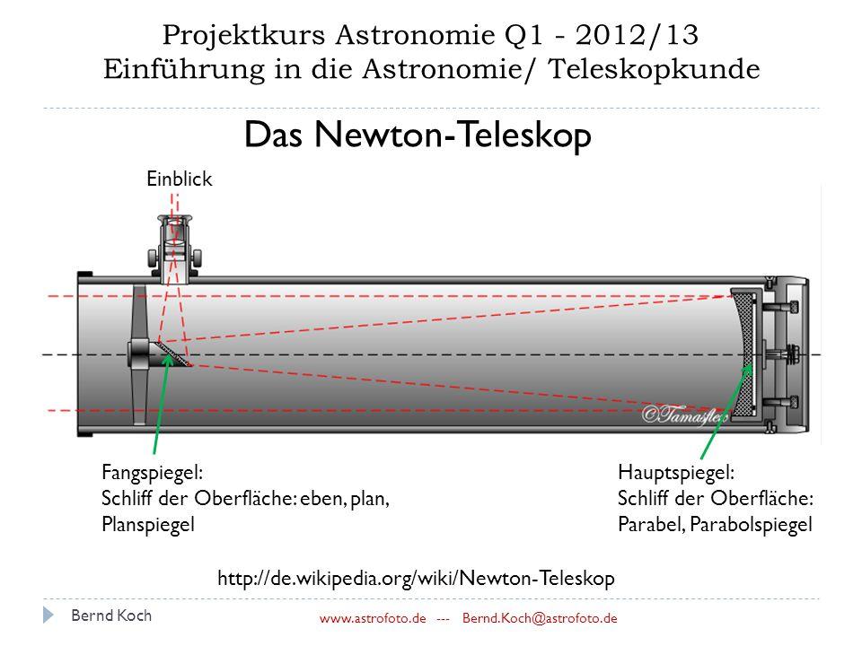 Bernd Koch --- Projektkurs Astronomie Q /13 Einführung in die ...
