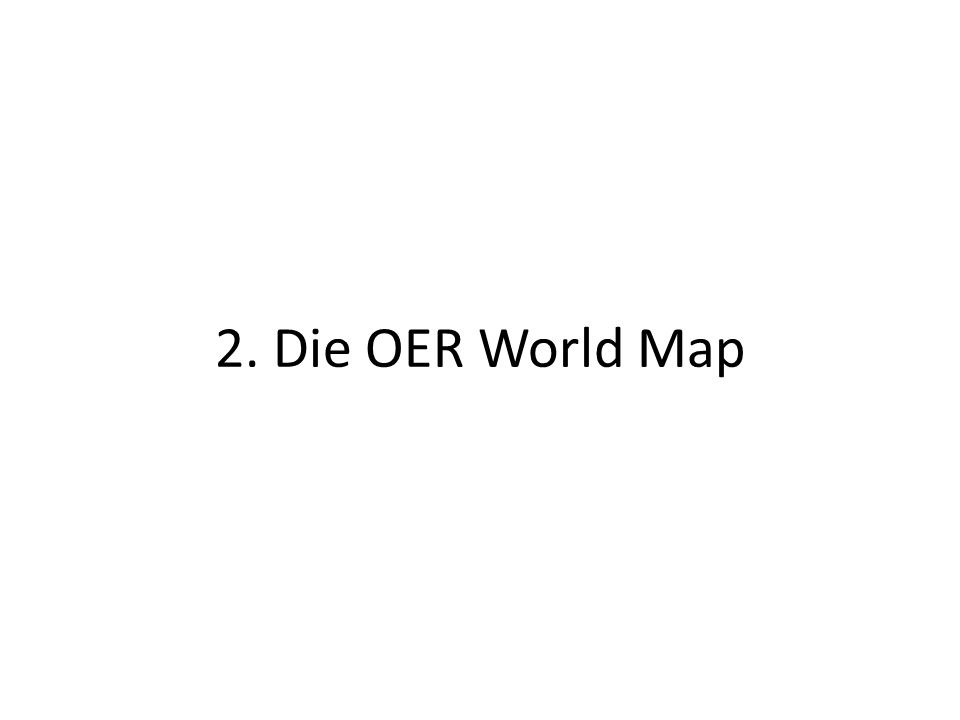 2. Die OER World Map