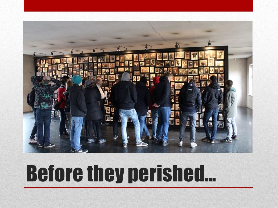 Before they perished...