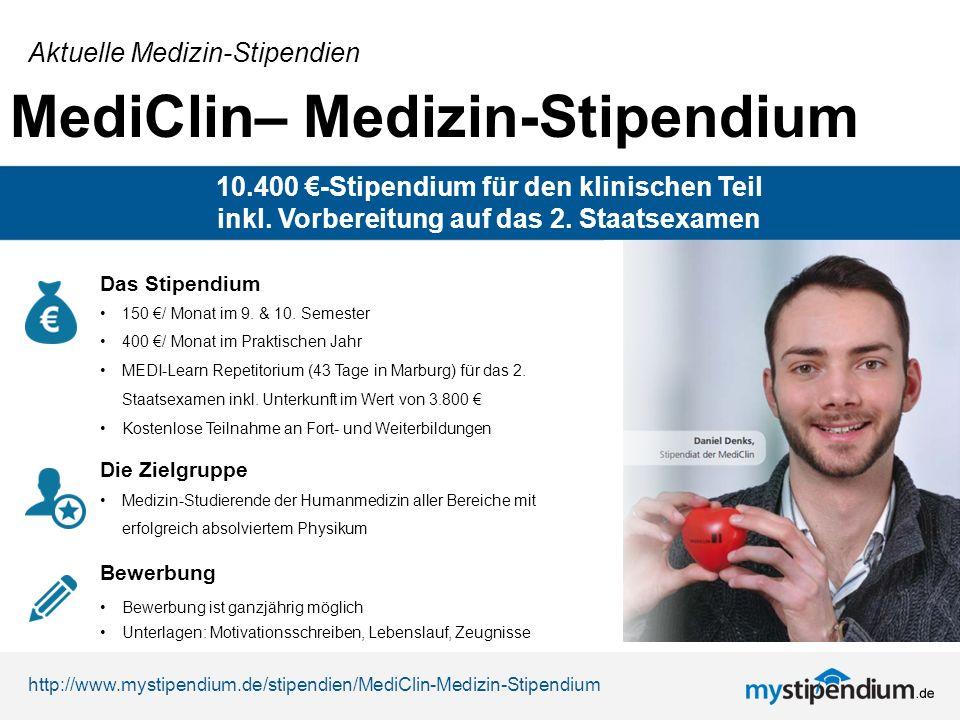 MediClin Medizin Stipendium Aktuelle Stipendien EUR Fr Den Klinischen Teil