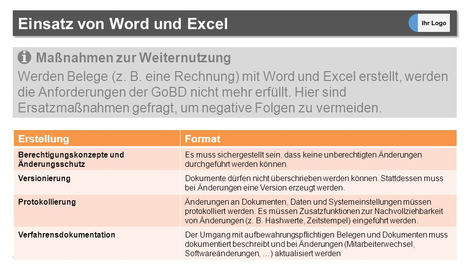 Gobd Konform Arbeiten Was Sie Wissen Sollten Seite 2 Was Bedeutet