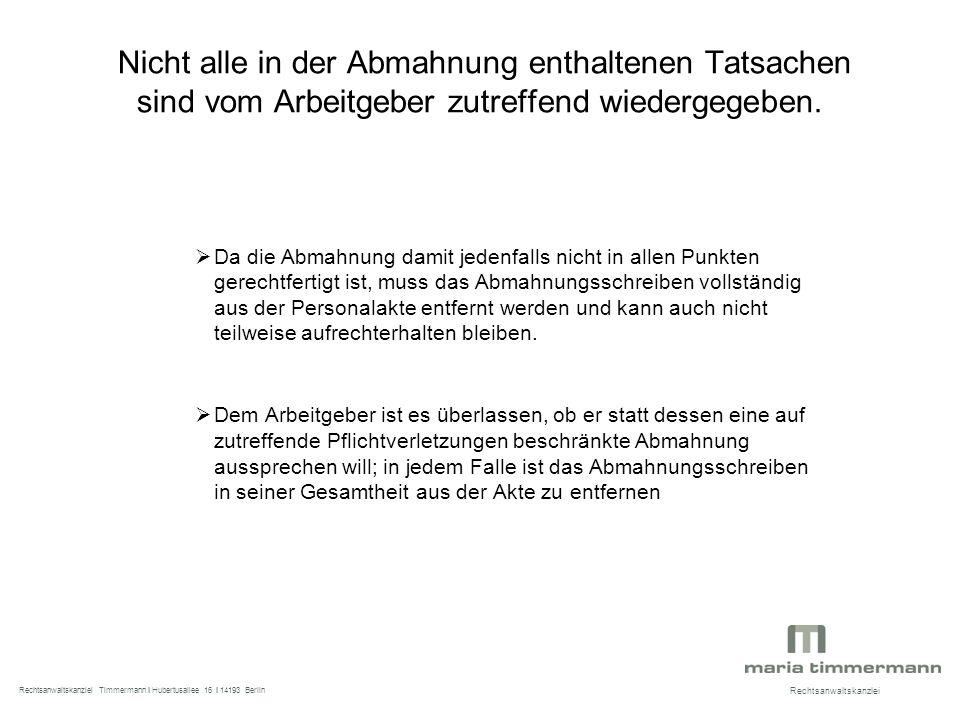 Richtig Abmahnen Workshop Bvg Am Rechtsanwaltskanzlei