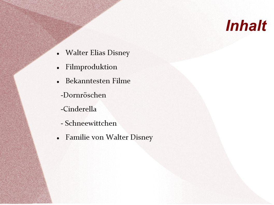 Inhalt Walter Elias Disney Filmproduktion Bekanntesten Filme